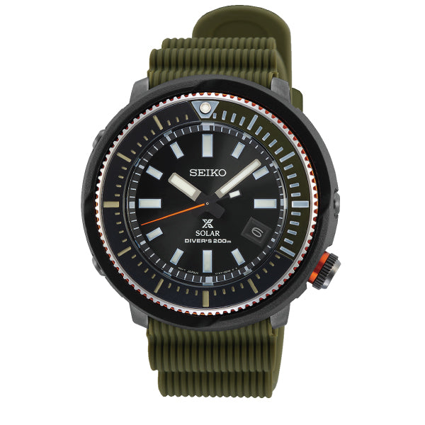 Seiko Prospex Solar Diver's Olive Green Silicone Strap Watch SNE547P1 (LOCAL BUYERS ONLY)