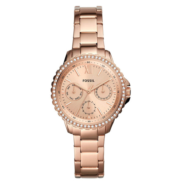 Fossil Ladies' Izzy Multifunction Rose Gold-Tone Stainless Steel Watch ES4782