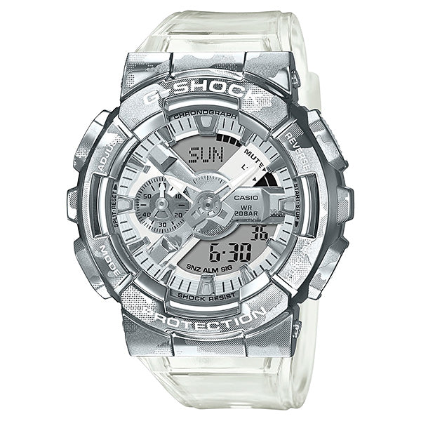 Casio G-Shock GM-110 Lineup Special Colour Model Transparent Camouflage Band Watch GM110SCM-1A GM-110SCM-1A