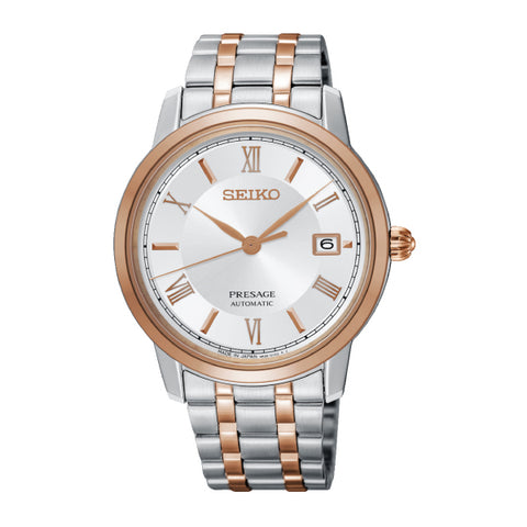 Seiko Presage (Japan Made) Automatic Two-toned Stainless Steel Band Watch SRPC06J1 | Watchspree