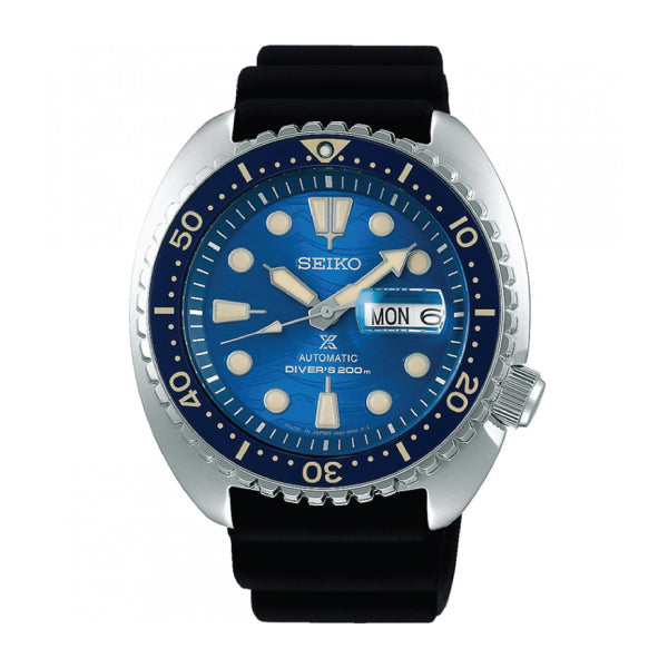 Seiko Prospex (Japan Made) Diver Scuba Save the Ocean Special Edition Black Silicon Strap Watch SBDY047 SBDY047J
