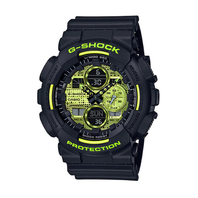 Casio G-Shock Special Color GA-140 Series Matte Black Resin Band Watch GA140DC-1A GA-140DC-1A