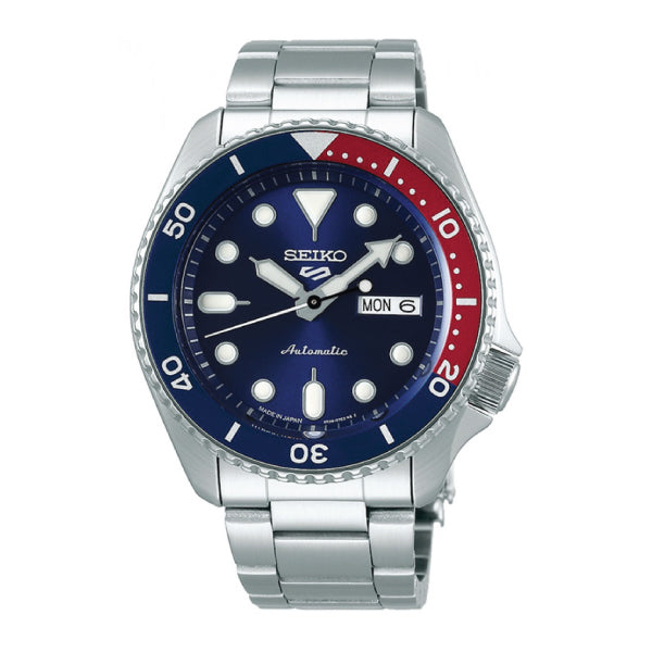 [JDM] Seiko 5 Sports (Japan Made) Automatic Silver Stainless Steel Band Watch SBSA003 SBSA003J