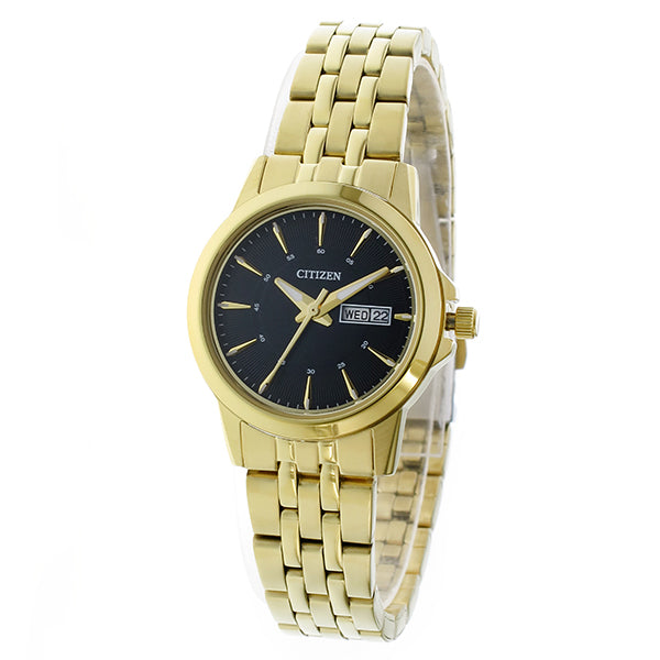 Citizen Ladies' Quartz Gold-Tone Stainless Steel Band Watch EQ0603-59E