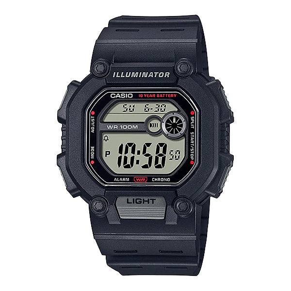 Casio Digital Black Resin Band Watch W737H-1A W-737H-1A