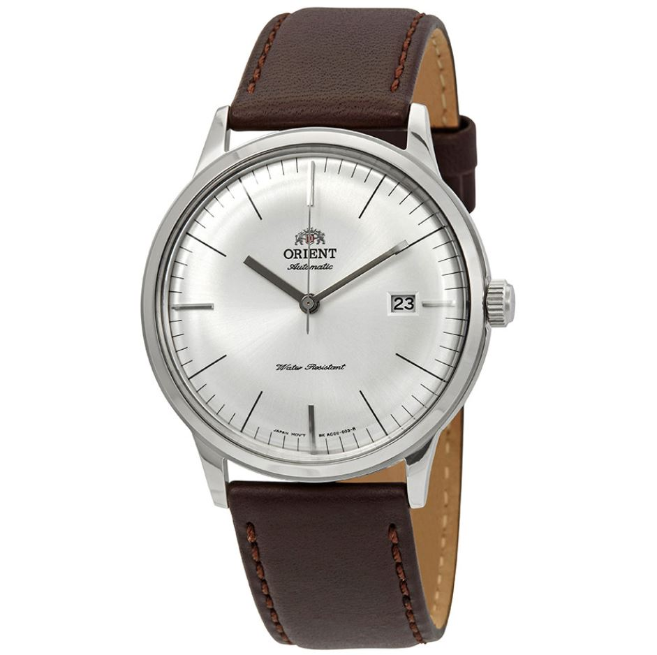 Orient Men's 2nd Generation Bambino Version 3 Automatic Brown Leather Strap Watch FAC0000EW0  | Watchspree
