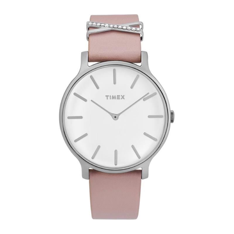 Timex Ladies' Transcend 38mm Leather Strap Watch TW2T47900