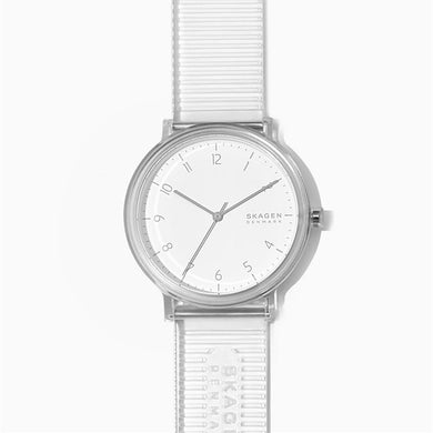 Skagen Men's Aaren Transparent Three-Hand Clear 41mm Watch SKW6605