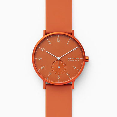 Skagen Men's Aaren Kulor Orange Silicone 41mm Watch SKW6511