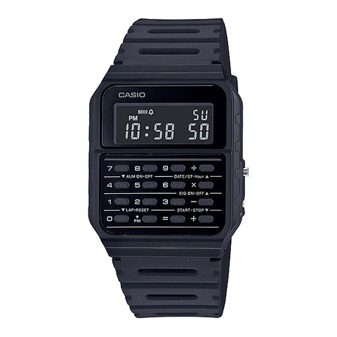 Casio Data Bank Calculator Black Resin Band Watch CA53WF-1B CA-53WF-1B