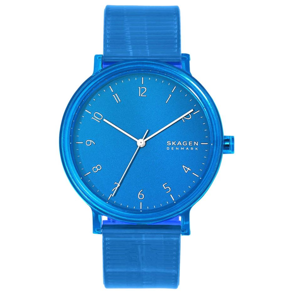 Skagen Men's Quartz Blue Polyurethane Strap Watch SKW6602 | Watchspree