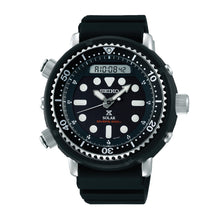 Load image into Gallery viewer, Seiko Prospex Solar Diver's Black Silicon Strap Watch SNJ025P1