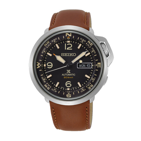 Seiko Prospex Land Series Automatic Brown Leather Strap Watch SRPD31K1
