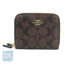 Load image into Gallery viewer, Coach Small Double Zip Around Wallet Brown F78144 IMAA8