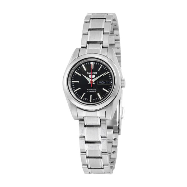Seiko 5 Women's (Japan Made) Automatic Silver Stainless Steel Band Watch SYMK17J1