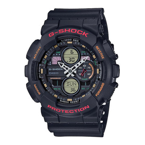 Casio G-Shock Standard Analog-Digital GA series Black Resin Band Watch GA140-1A4 GA-140-1A4 | Watchspree