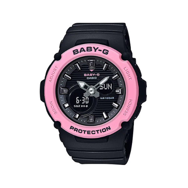 Casio Baby-G BGA270 Series in Pastel Colours Black Resin Band Watch BGA270-1A BGA-270-1A
