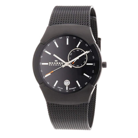 Skagen Men's Black Label Stainless Steel Mesh Bracelet Watch 983XLBB