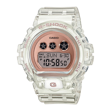 Casio G-Shock S Series DW-6900 Lineup Transparent x Rose Gold Resin Band Watch GMDS6900SR-7D GMD-S6900SR-7D GMD-S6900SR-7