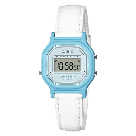 Casio Ladies' Standard Digital White Leather Band Watch LA11WL-2A LA-11WL-2A | Watchspree