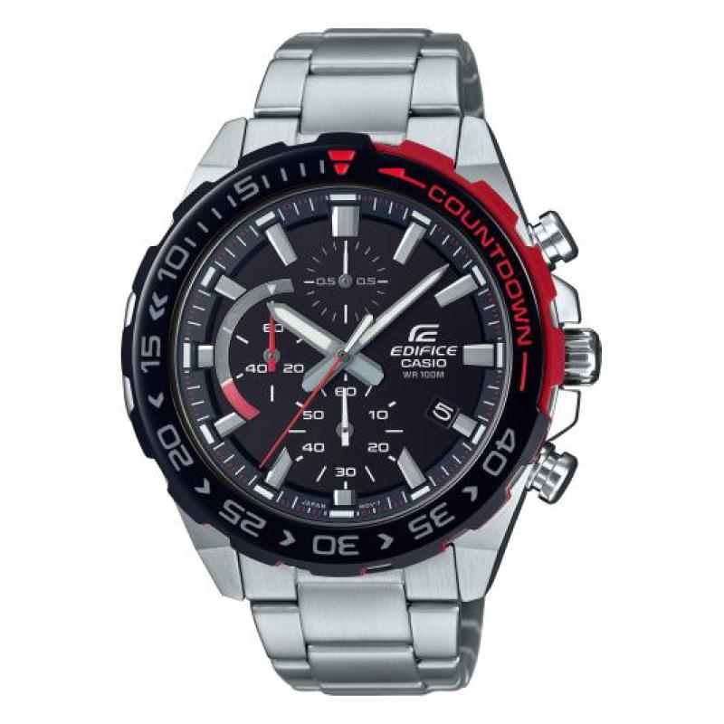 Casio Edifice Standard Chronograph Silver Stainless Steel Band Watch EFR566DB-1A EFR-566DB-1A | Watchspree