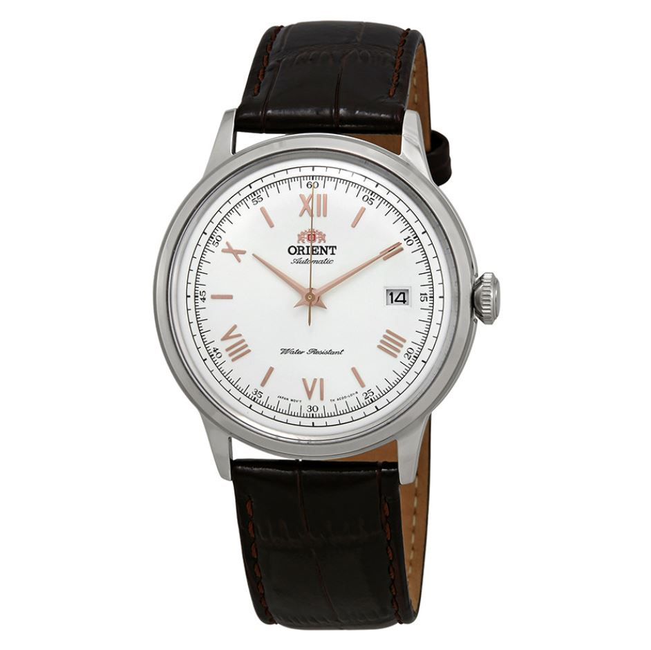 Orient Men's 2nd Generation Bambino Version 2 Automatic Brown Leather Strap Watch FAC00008W0  | Watchspree