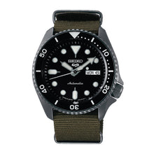 Load image into Gallery viewer, [JDM] Seiko 5 Sports (Japan Made) Automatic Olive Green Canvas Strap Watch SBSA023