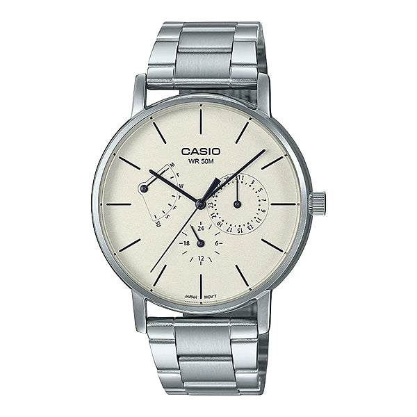 Casio Men's Analog Stainless Steel Band Watch MTPE320D-9E MTP-E320D-9E