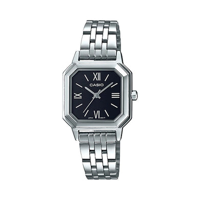 Casio Ladies' Analog Stainless Steel Band Watch LTPE169D-1B LTP-E169D-1B