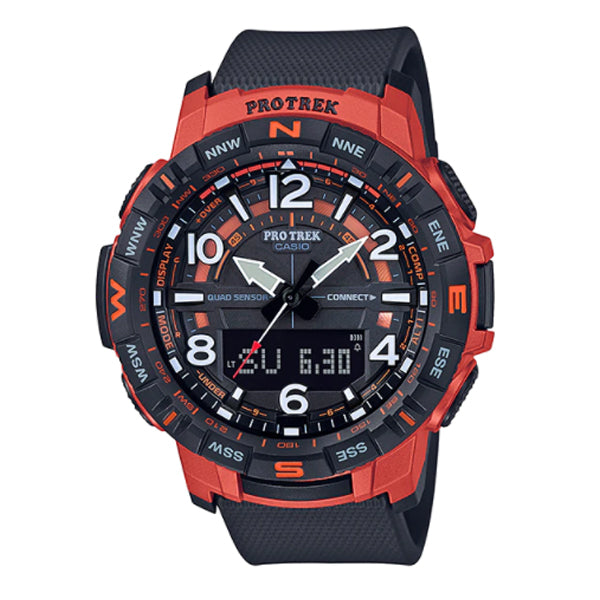 Casio Pro Trek PRT-B50 Series Quad Sensor Black Resin Band Watch PRTB50-4D PRT-B50-4D PRT-B50-4