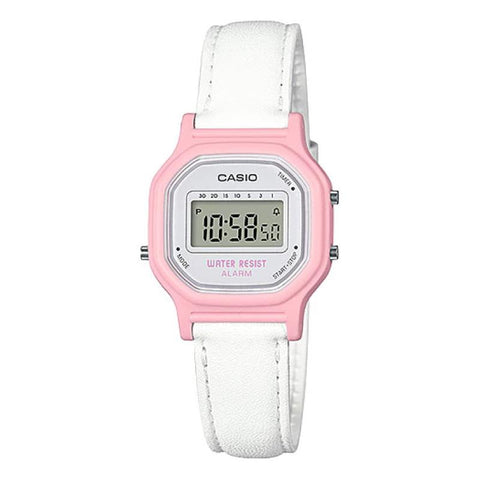 Casio Ladies' Standard Digital White Leather Band Watch LA11WL-4A LA-11WL-4A | Watchspree