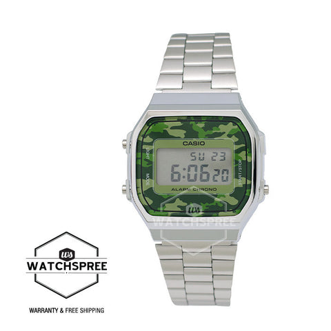 Casio Standard Digital Stainless Steel Watch A168WEC-3D