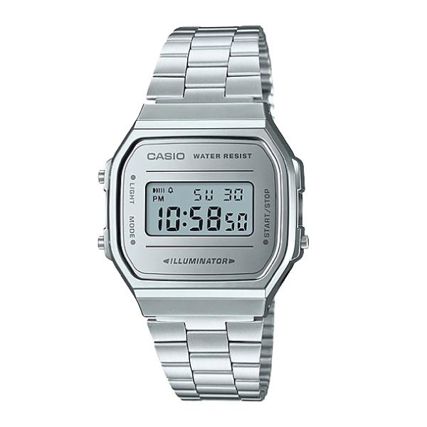 34e79f69e Casio Vintage Standard Digital Silver Stainless Steel Band Watch A168WEM-7D  A168WEM-7