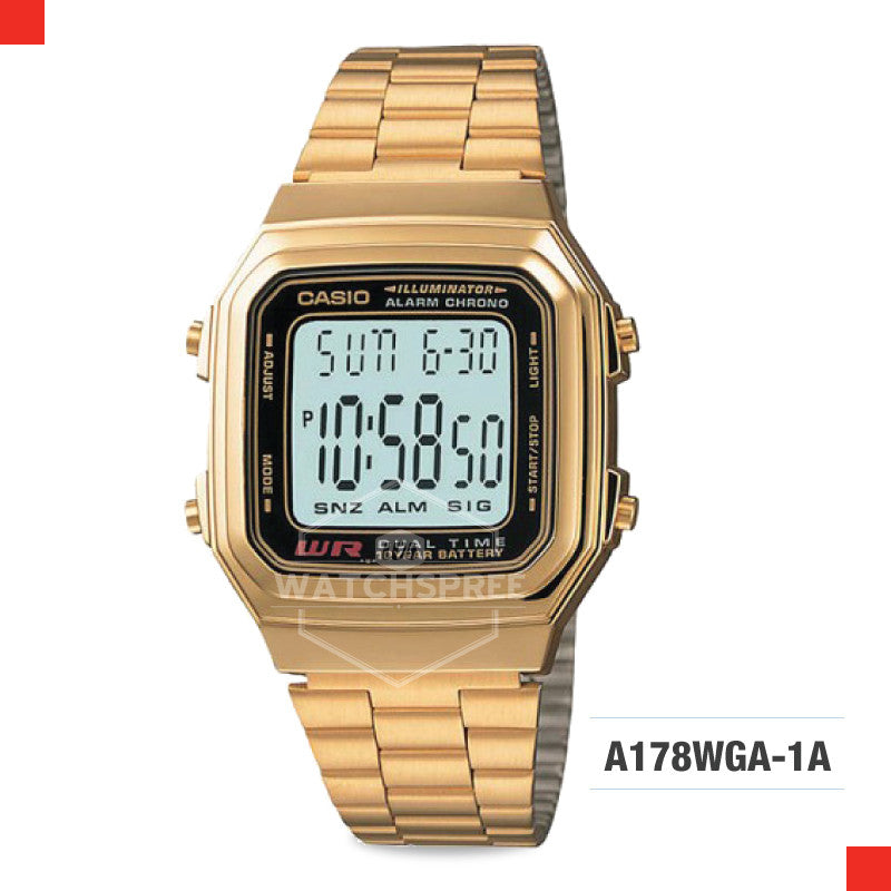 Casio Vintage Watch A178WGA-1A