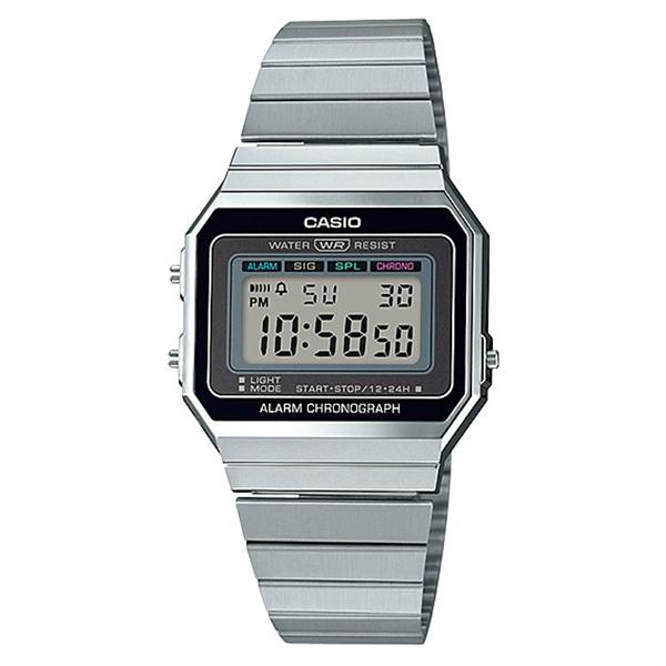 Casio Vintage Standard Digital Silver Stainless Steel Band Watch A700W-1A