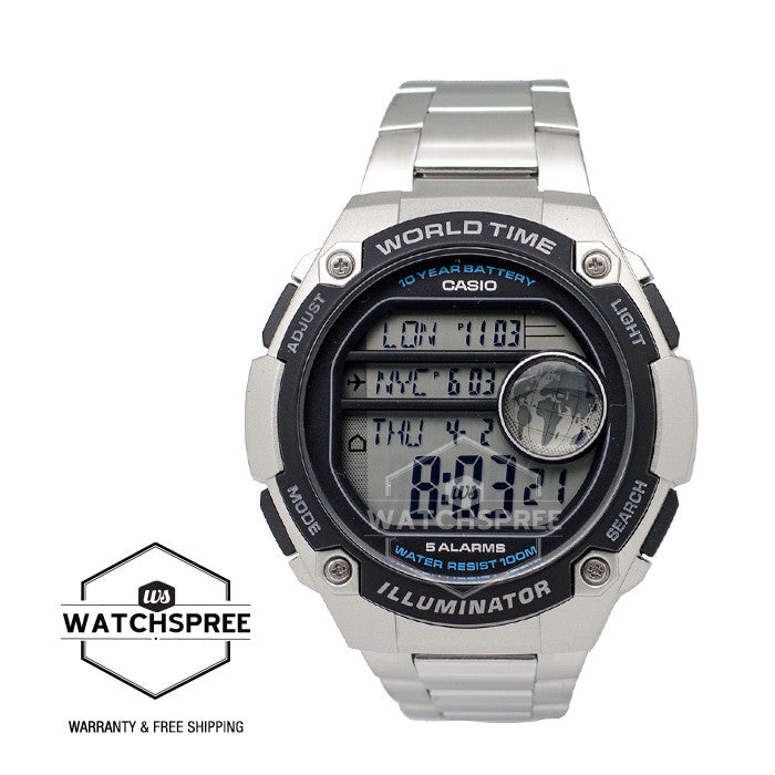 f978787f6 Casio Standard Digital Stainless Steel Band Watch AE3000WD-1A | Watchspree