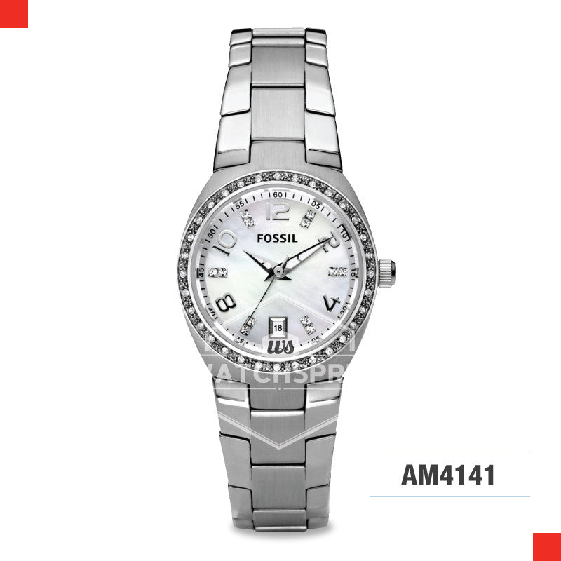 Fossil Ladies Flash Stainless Steel Watch AM4141