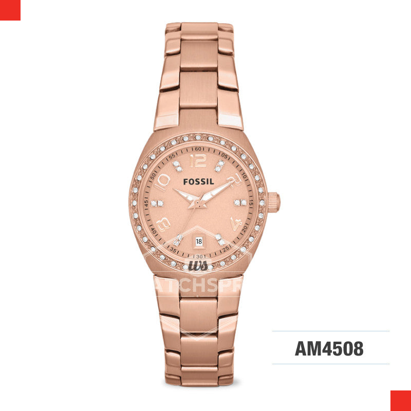 Fossil Ladies Colleague Rose Tone Stainless Steel Watch AM4508