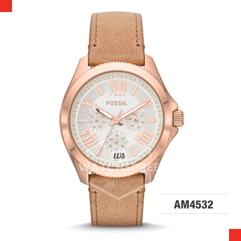 Fossil Ladies Cecile Multifunction Leather Watch AM4532
