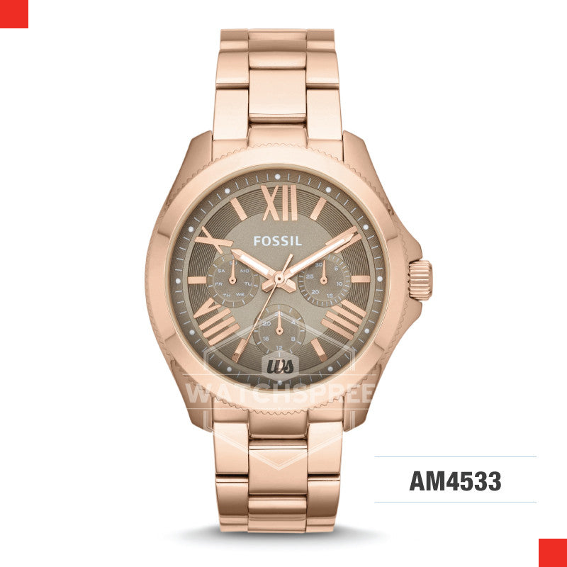 Fossil Ladies Cecile Multifunction Rose Gold Stainless Steel Strap Watch AM4533