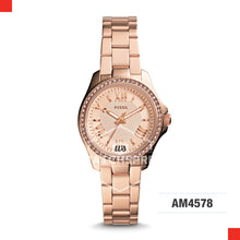 Load image into Gallery viewer, Fossil Ladies Cecile Small Rose-Tone Stainless Steel Watch AM4578