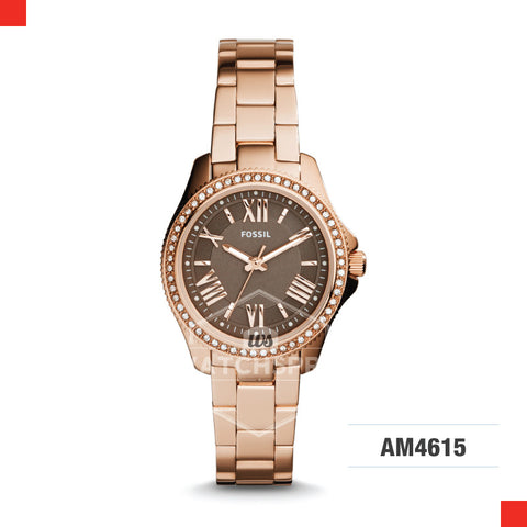 Fossil Ladies Cecile Rose Gold Stainless Steel Strap Watch AM4615