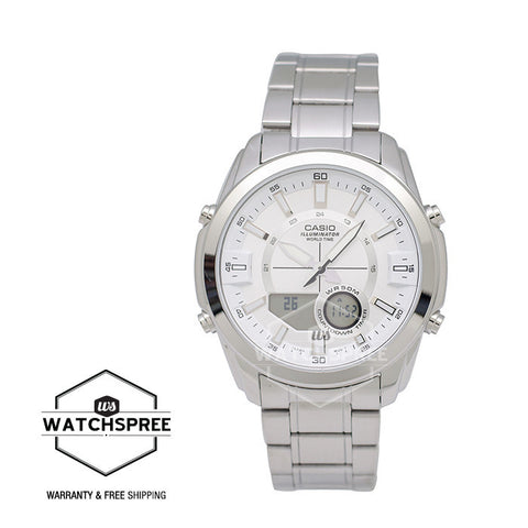 Casio Standard Analog Digital Stainless Steel Watch AMW810D-7A