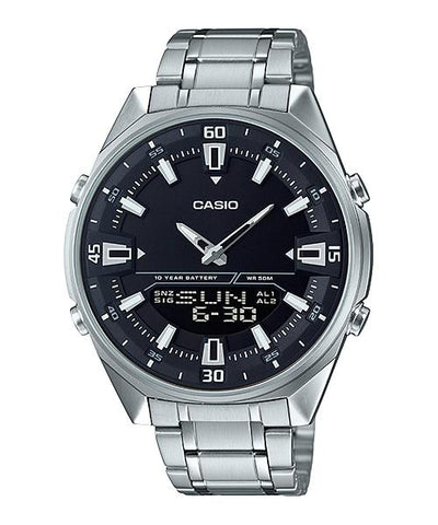 Casio Analog-Digital Silver Stainless Steel Band Watch AMW830D-1A AMW-830D-1A
