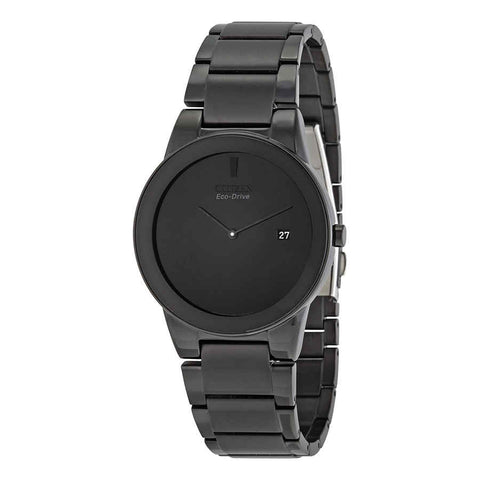Citizen Axiom Eco Drive Black Dial Black Ion-plated 40 mm Men's Watch AU1065-58E [Pre-order]