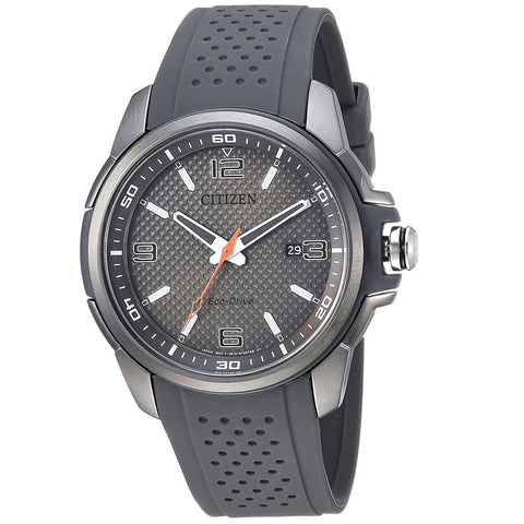 Citizen AR Charcoal Grey Dial Black Polyurethane 45 mm Men's Watch AW1157-08H