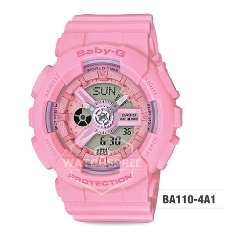 Casio Baby-G  BA110 Pink Color Series Pink Resin Band Watch BA110-4A1