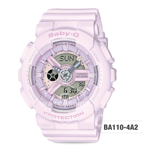 Casio Baby-G BA110 Pink Color Series Light Pink Resin Band Watch BA110-4A2