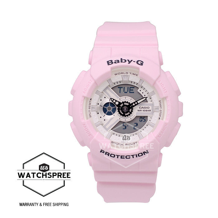 055b2d4a3ae4 Casio Baby-G Beach Color Series Pink Resin Watch BA110BE-4A | Watchspree