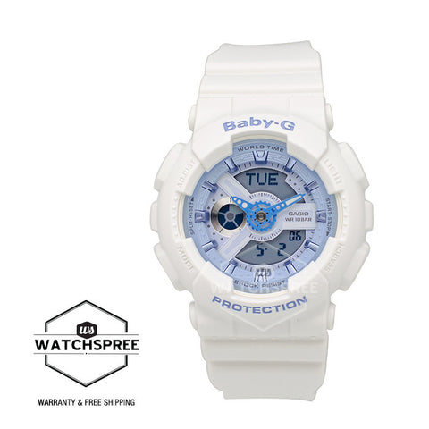 Casio Baby-G Beach Color Series White Resin Band Watch BA110BE-7A